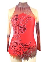 red gradient leotard for luxury use